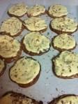 Homemade Brownie Cookie with Sea Salt Caramel Icing