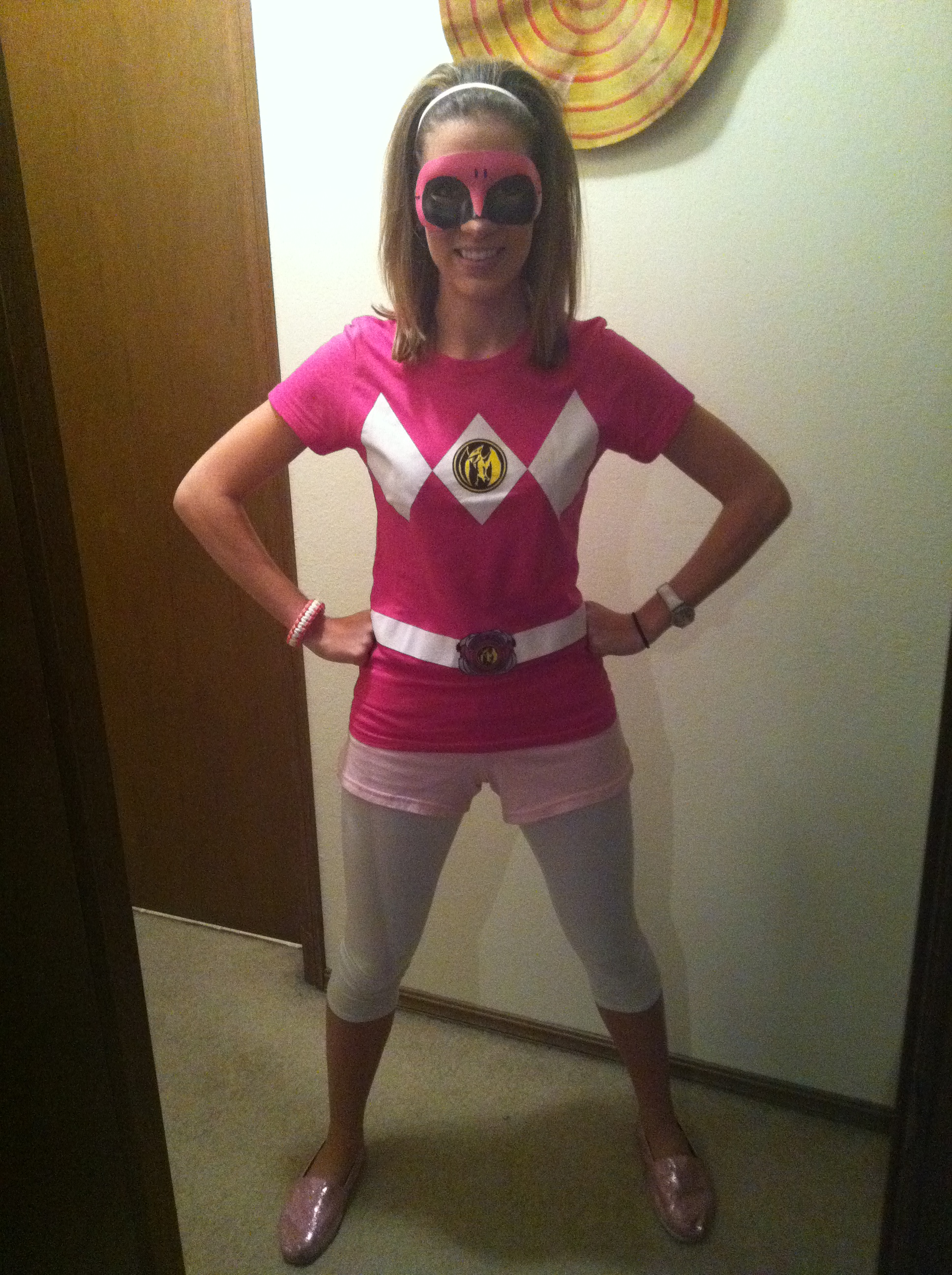 Have ... & pink power ranger halloween costume | Care To Be Glam