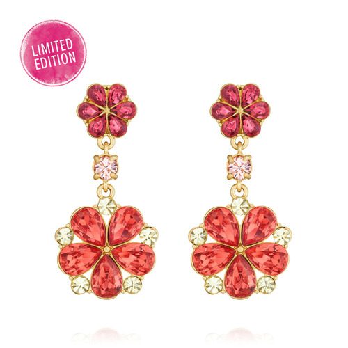 Hothouse Flowers Double Drop Earrings
