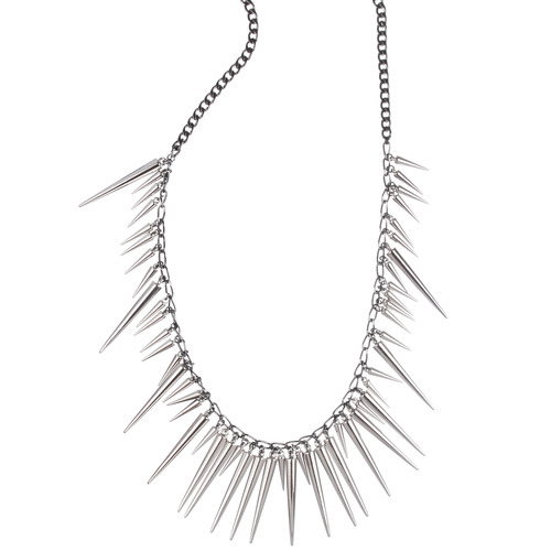 Multi- Spike Long Necklace