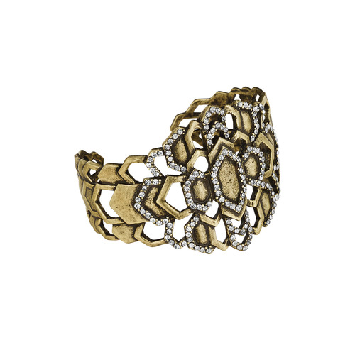 Deco Cascade Adjustable Brass Cuff