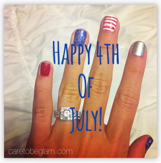 My 4th of July Nails- caretobeglam.com